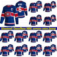 2021 Nuovo Montreal Canadiens Reverse Retro Jerseys 31 Carey Prezzo 11 Brendan Gallagher 6 Weber personalizzato Qualsiasi nome qualsiasi numero di hockey jersey