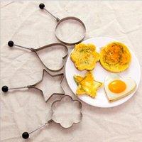 Omelette moule en acier inoxydable machine à frire en acier inoxydable créatif Multi cardiaque Moule d'œuf à œufs frite Outils de cuisine épaissi 4PSC L FFC4211