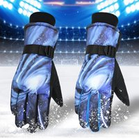 2pcs imperméable hiver gants chauds de ski de ski de snowboard moto équitation hiver tactile écran ski outil