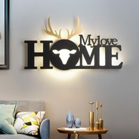 Nordic Wall Lamp Creative led Background Wall Light Modern Minimalist Bedroom Bedside Light Staircase Aisle Corridor Sconce