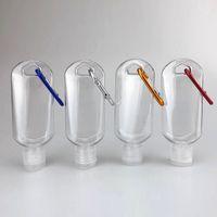 Hotting 30ml 50ml60ml PETG Plastica Plastica Sanitizer Gel Bottle con catena chiave Portatile Viaggio Disinfettante bottiglia fluido all'ingrosso