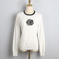 밀라노 활주로 스웨터 2020 긴 소매 o 목 인쇄 여성 스웨터 하이 엔드 자카드 풀오버 여성 디자이너 스웨터 1210-1