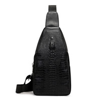 HBP erkek yeni timsah göğüs çantaları tek omuz çantaları moda trendi messenger çanta eğlence açık erkek çanta üreticisi doğrudan satış