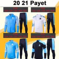 20 21 TVAVIN Çocuk Ceket Kiti Futbol Formaları Yeni Payet Payet Benedetto Kamara Sanson Çocuk Beyaz Bluetraining Suit Futbol Gömlek Eşofman