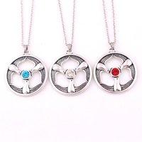 Rhiannon Tres pájaros Colgante Galés Goddesa Pájaros Crystal Religioso Amuleto Cruz Colgante