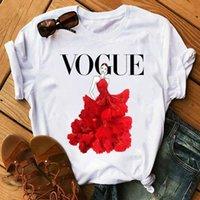 Women Summer Short Sleeve Flower Ballet Print Tshirts Fashion Lady T-shirts Top T Shirt Ladies Womens Graphic Female Tee