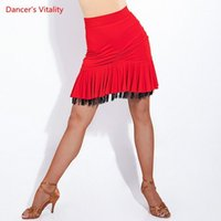 Nouvelle jupe latine Fête Femmes Volants Tassel Design Dance Costumes Performance Latin Fringe Femme Dress Robe Pratique Jurious