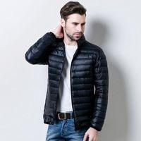 Autumn Winter Light Down Men's Jackets Male Stand Lead Clothes Loose Coat Enlarge Size Hooded Short Lightweight Coat1 Men's & Parkas
