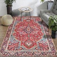 Teppiche Persische Vintage für Wohnzimmer Schlafzimmer Matte Rutschfeste Bereich Teppiche Absorbierend Boho Marokko Ethnischer Retro Teppich 160x230 201214