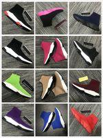 Lüks Erkekler Tasarımcı Ayakkabı Üst Trainer Çorap Sneakers Çizmeler Kadınlar Kırmızı Dipleri Hız Koşucu Açık Havada Casual Flats