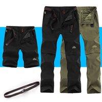NUONEKO Çıkarılabilir erkek Yaz Hızlı Kuru Kargo Pantolon Erkekler Nefes Pantolon Erkek Haki Rahat Sweatpants Artı Boyutu 6XL CK108
