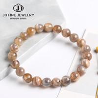 JD Naturel Backbone Moonstone Bracelet Noir Golden The Sun Stone Moonlight Stone Cristal String String Femme