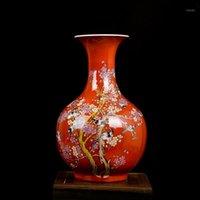 Jingdezhen keramische Vase Home Einrichtung Wohnzimmer Handwerk Neue chinesische Büroweinkabinetteingang Dekoration Ornamente1