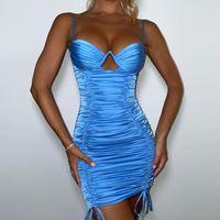 Abiti casual Spaghetti Spaghetti Dress Strap Dress Backless Sexy Summer Donne Night Club Party Mini BodyCon Bandage
