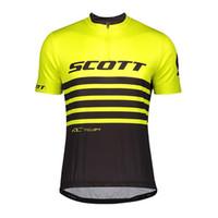 Scott Bisiklet Giyim Erkekler Yaz Hızlı Kuru Bisiklet Jersey Ropa Ciclismo Tour de France Kısa Kollu Bisiklet Jersey Bicicleta Maillot Y20101903