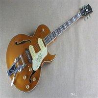 Envío gratis fábrica de instrumentos musicales personalizado de calidad superior P90 Pickup ES125 Guitarra eléctrica de jazz