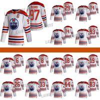 Edmonton Oilers 2020-21 Retro Retro Jersey 97 Connor McDavid 29 Leon Draisaitl 74 LNB 74 Ethan Bear Hockey Jerseys