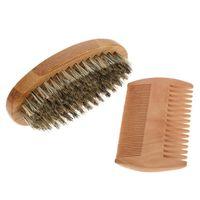 Мягкая щетина древесина борода кисть щетина набор мужской усы гребня набор борода волос набор волос для волос набор парикмахерский бритье Groom SQCICV