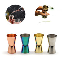 Stainless Steel Wine Measuring Cup 15 30 ML Polished Double-...