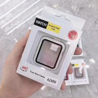360 حامي ملء الشاشة ل iwatch 38MM 42 ملليمتر 40 ملليمتر 44mm الوفير الإطار الحافظة الصلب مع فيلم الزجاج المقسى للمشاهدة 5/4/3/2/1