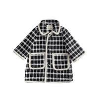 New Woolen Meninas Overcoat Long Girls Casacos 2020 Outono Inverno Crianças Overcoat Meninas Outerwear Crianças Casacos Boutique Kids Outerwear B2865