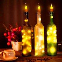 Hızlı Teslimat Twinkle Yıldız 10X Sıcak Şarap Şişesi Mum Şekli Dize Işık 20 LED Gece Peri Işıkları Lamba Dize