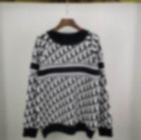 2020 Herbst und Winter Neue blaue Graffiti Intarsia Logo Pullover Importierte Strickmaschine Hoher Qualität Rundhals Sweater Pullover Männer Fashi