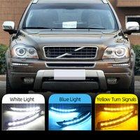 1Pari drl para Volvo XC90 2007 - 2013 Daylight Daytime Driving Lights Running Light Light Light Nevoeiro