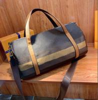 2020 새로운 도착 디자이너 더플 백 남성 고품질 가죽 여행 가방 수하물 주말 가방 하루 클러치 체육관 가방 지갑
