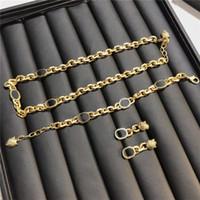 Flut Frauen Halskette Sets Buchstaben Kette Armbänder Lion Head Designer Armband Seiko Quaste Ohrringe Hip Hop Halsketten Geschenk Großhandel