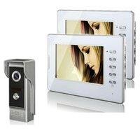 7 ''LCD 화면 유선 비디오 도어 폰 시스템 Visual Intercom Doorbell 실내 모니터 700TVL 야외 IR 카메라 나이트 뷰 1
