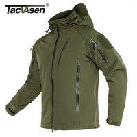 Giacche da uomo Tacvasen Tactical Giacca Tactical Uomo Inverno Fleece Fodera con cappuccio Softshell Army Coat Antivento Assault 4xL1