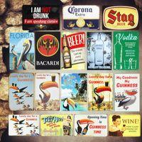 기네스 플라크 빈티지 금속 금속 주석 표지판 바 펍 장식 플레이트 보드카 벽 스티커 철 포스터 맥주 광고 기호
