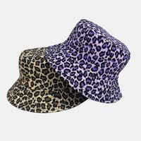 قبعة المرأة الجديدة على الوجهين صياد المرأة مصممين القبعات 2020 البرية ليوبارد الرجال مصممين قبعة القبعات مصممي قبعات القبعات رجل ب