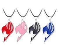 Chaokers 5 Couleurs Fairy Queue Guilde Signe Pendentif Collier Logo Tatouage Cuir Cuir Chaîne Pendentifs Colliers Hommes Femmes Cadeau Bijoux