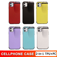 Iphone 11 2 in 1 Phone Case TPU+ PC Protect Cover With Earpho...