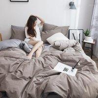Baumwolle Baumwollbett-Bett-Steppdeck-Deckel-Quilt-Studenten-Schlafsaal einzelne dreiteilige Bettwäsche1