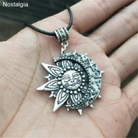 Wiccan Sun Moon Star Star Collana maschile Donne Mandala Lotus Flower Wicca Witchcraft Strega Gioielli Neckless Spiritual Jewellery1