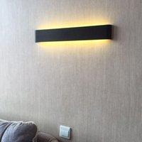 Настенный светильник светодиодный свет алюминиевый сплав творческий живущий фон фона спальня прикровата черное серебро простым разным -м