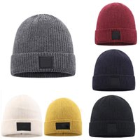 New Mens Beanie Winter Wool Hat New Fashion Womens Knitted Thicken Warm Polo Beanie Bonnet Cap XD23989