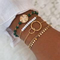Nuevos pulseras de cadenas geométricas de Rhinestone Punk para mujeres Bohemia Bigles multicapa Charm Bangles Fashion Party Jewelry Regalo F1205
