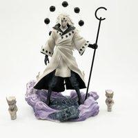 Anime Naruto Uchiha Madara Rikud Sennin Ootutuki Hagoromo PVC Action Figure Yüz Yedek Koleksiyon Model Oyuncak 26 cm Y200421