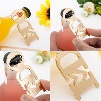 Popüler Düğün Açacağı Sevgililer Günü Hediyeleri için Mektup Metal Şişeleri Açacağı Yaparım Altın Renk 3 8LTA E1