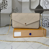 Handtaschen Frauen Taschen Mode drei in einer Umhängetasche Geldbörsen Kette Crossbody Bag Serielle Codes Messenger Bag Original Box M69977 LB120