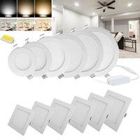 10ピース6W 9W 12W 15W 18W 24W LEDダウンライトランプパネルライトLEDの埋め込み天井照明