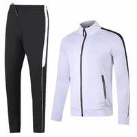 Наборы беговых наборов осень зима трексуиты взрослые куртки брюки футбол тренировочный костюм на открытом воздухе футбол бегагинг свитер брюки плюс размер