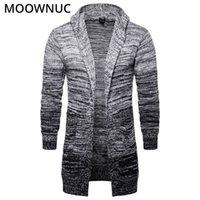 Мода мужская твердая хлопчатобумажная умная повседневная новая осень Slim Храните теплый Homme Cardigan Men модный свитер Moowuc MWC 201211