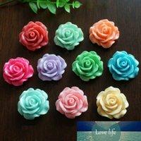 30 ADET 10mm Reçine Gül Çiçek Flatback Düğmeler DIY Scrapbooking Bize Aplikler
