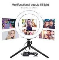 Photo STUDIO Selfie LED Bague AVEC PHONE PLALEUR Porte-Mobile Porte-flux en direct Maquillage Caméra de photographie