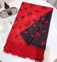 Wholesale- men and women wool scarf luxury scarf letter desig...